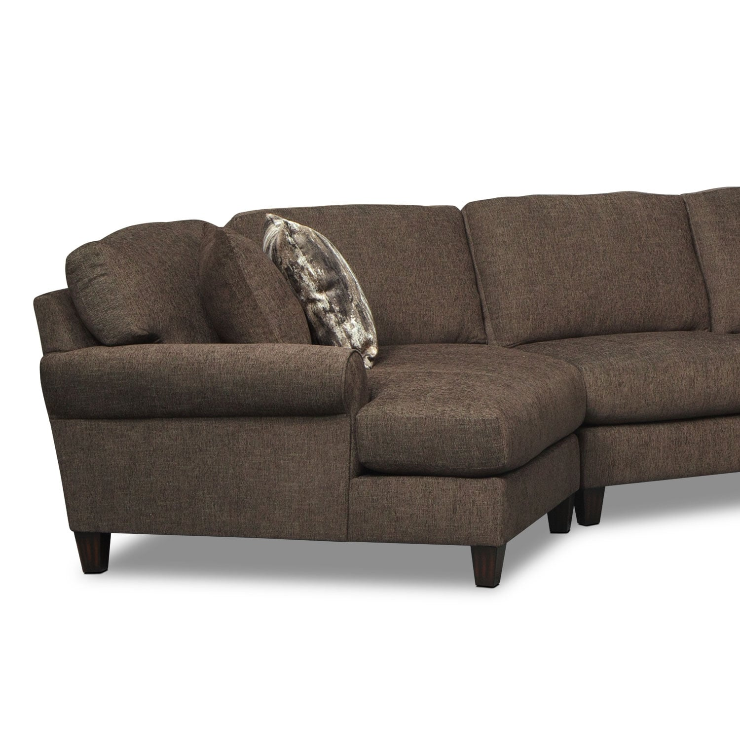 Karma 3 Piece Sectional with Right Facing Chaise and Left Facing