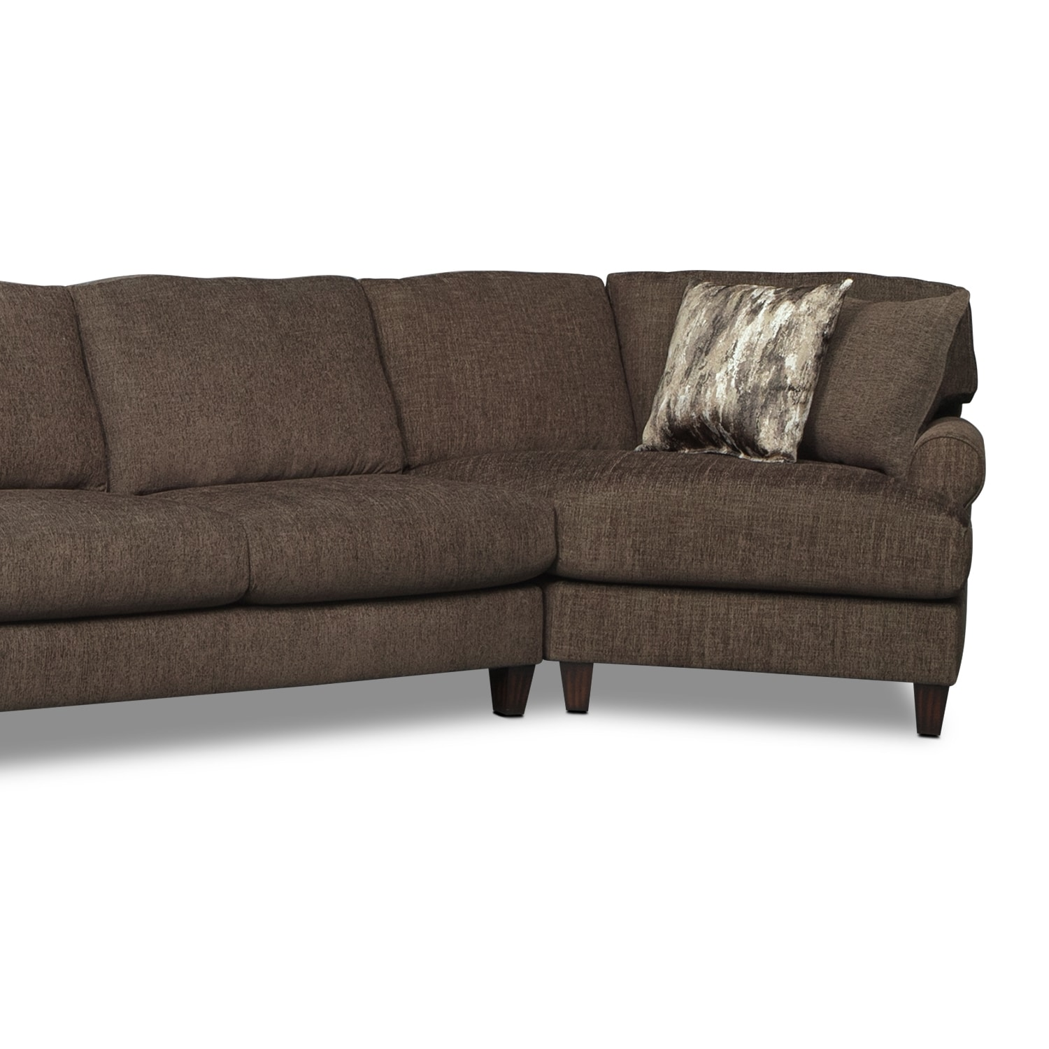 Karma 3 Piece Sectional with 2 Cuddlers Smoke