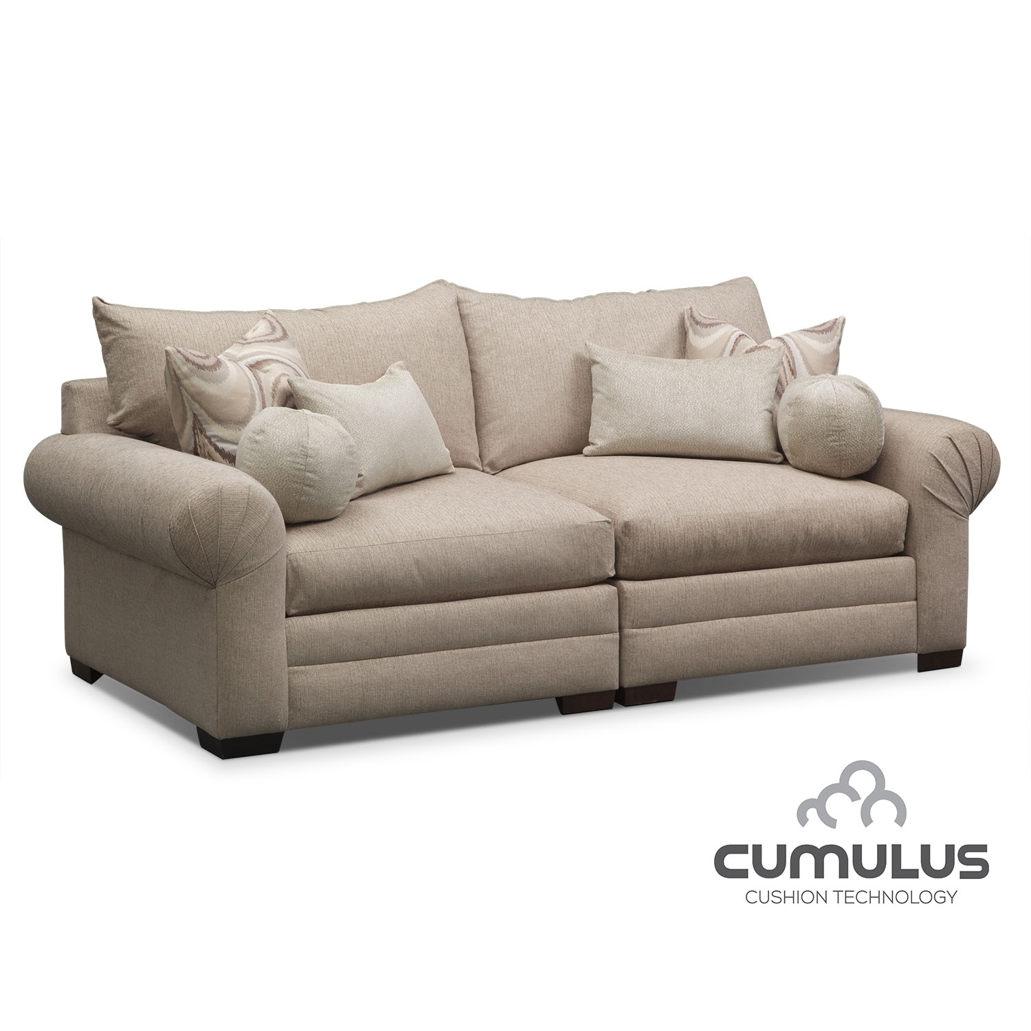 Living Room Furniture - Wilshire Sofa - Cream