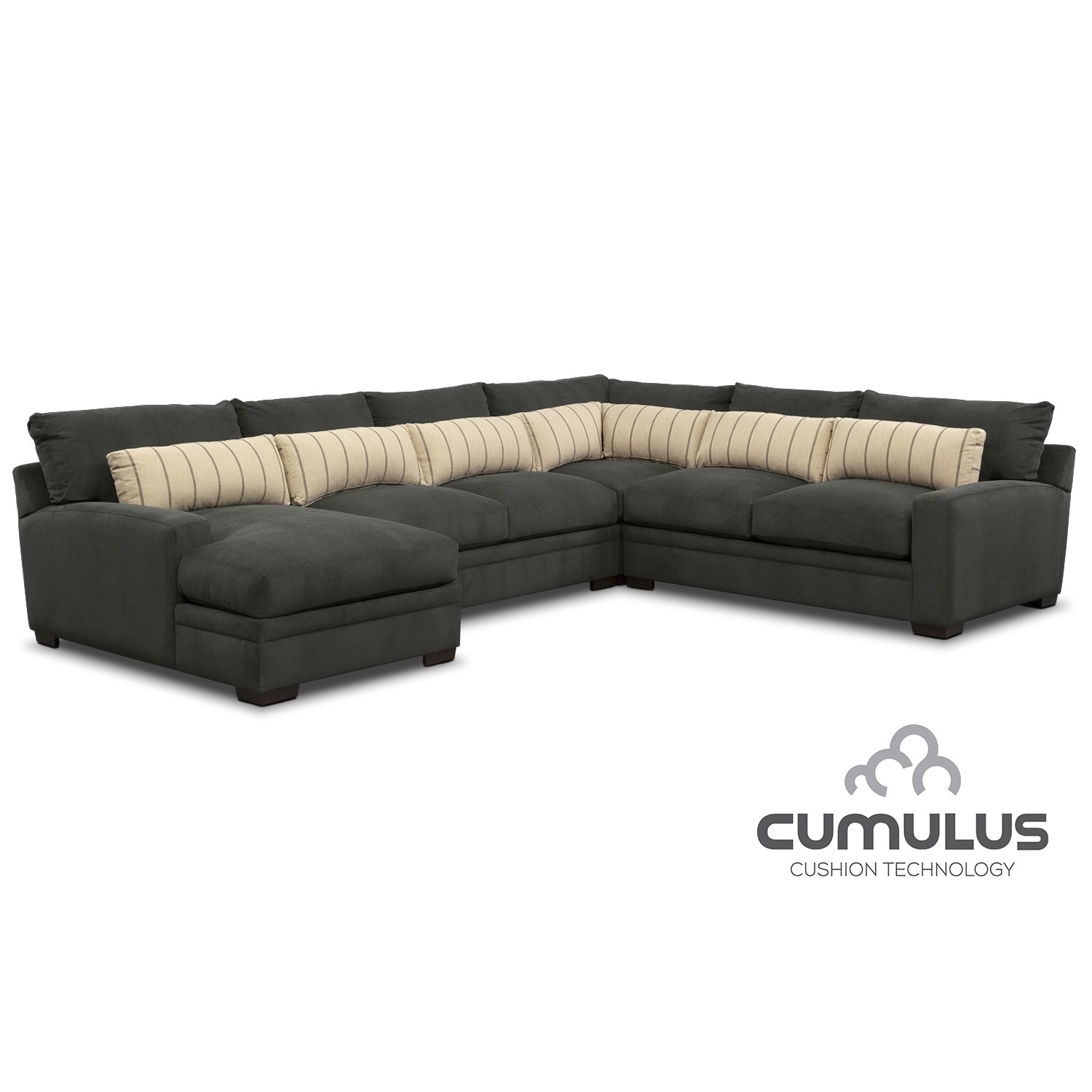 Ultimate comfort by kroehler value city furniture for Affordable furniture 3 piece sectional in wyoming saddle