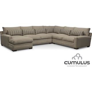 Ventura 4-Piece Left-Facing Sectional - Buff
