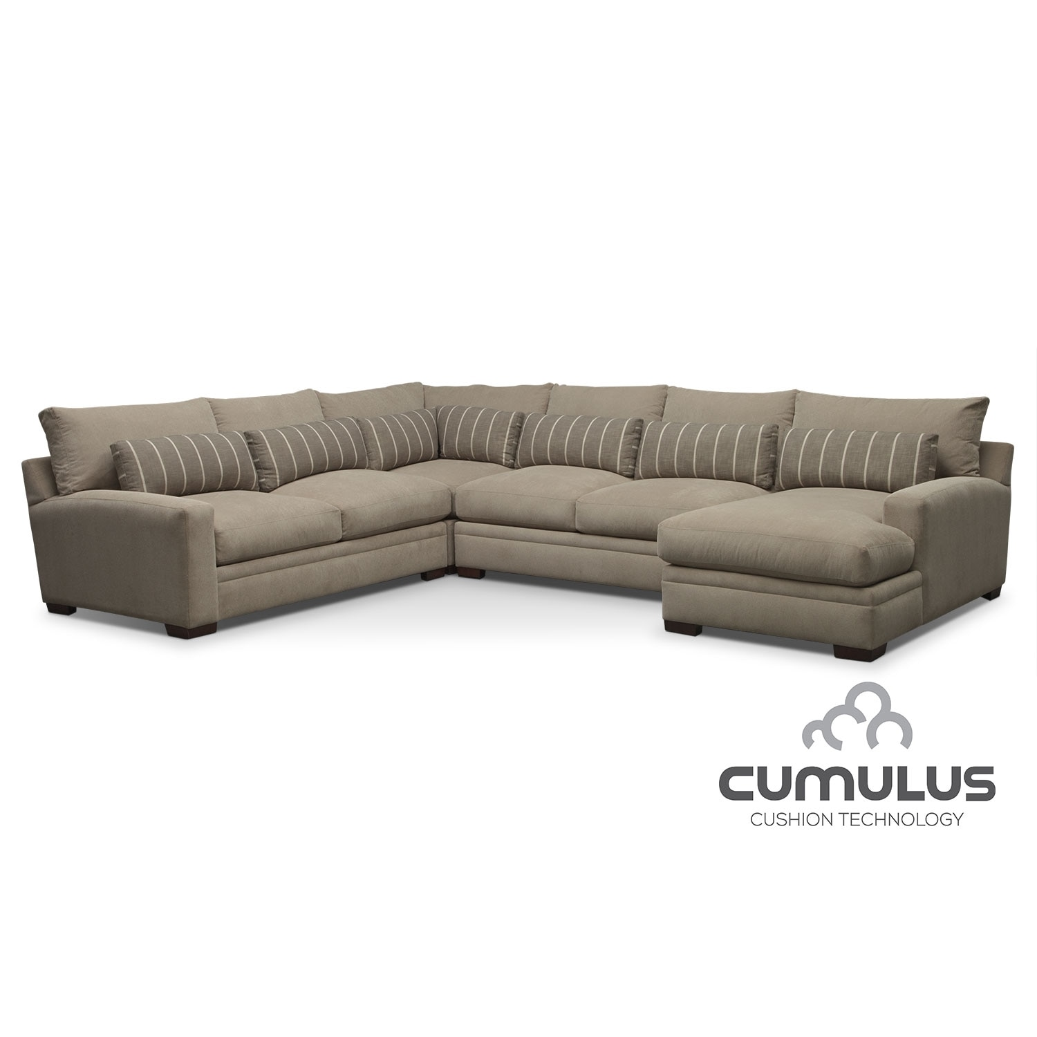 Ventura 4 Piece Right Facing Sectional Buff