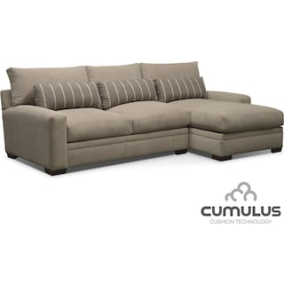 Ventura 2-Piece Right-Facing Sectional - Buff
