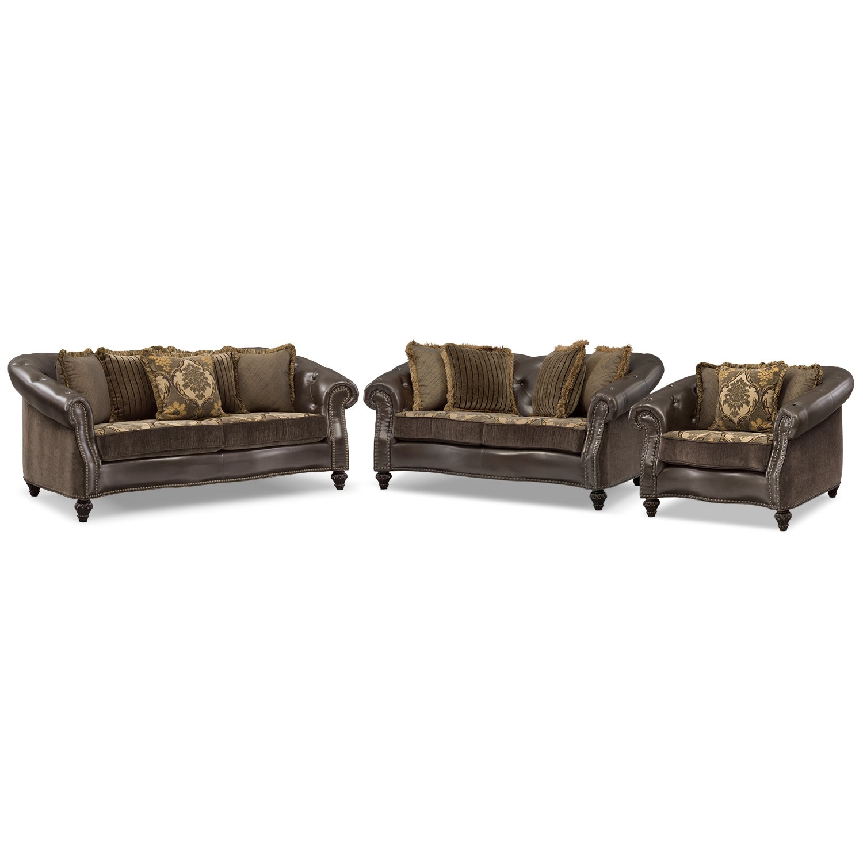 Living Room Furniture - Nicholas 3 Pc. Living Room