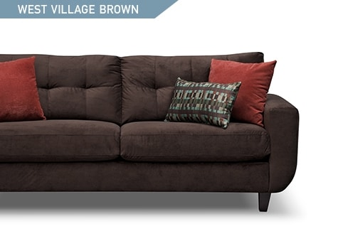 Shop the West Village Chocolate Brown Sofa