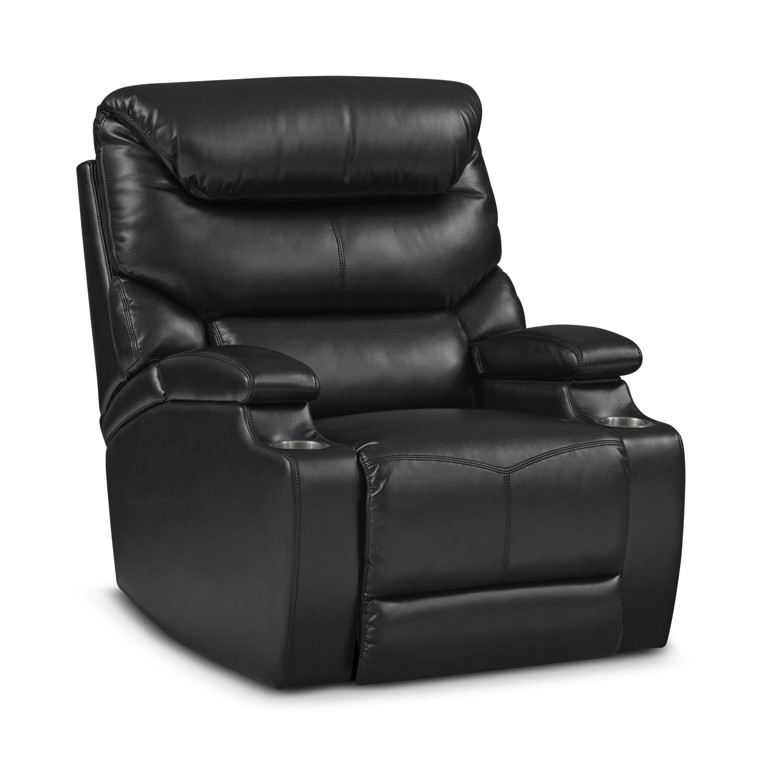 [Jupiter Black Power Recliner]