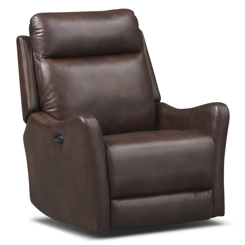 Living Room Furniture - Enzo Power Recliner - Brown