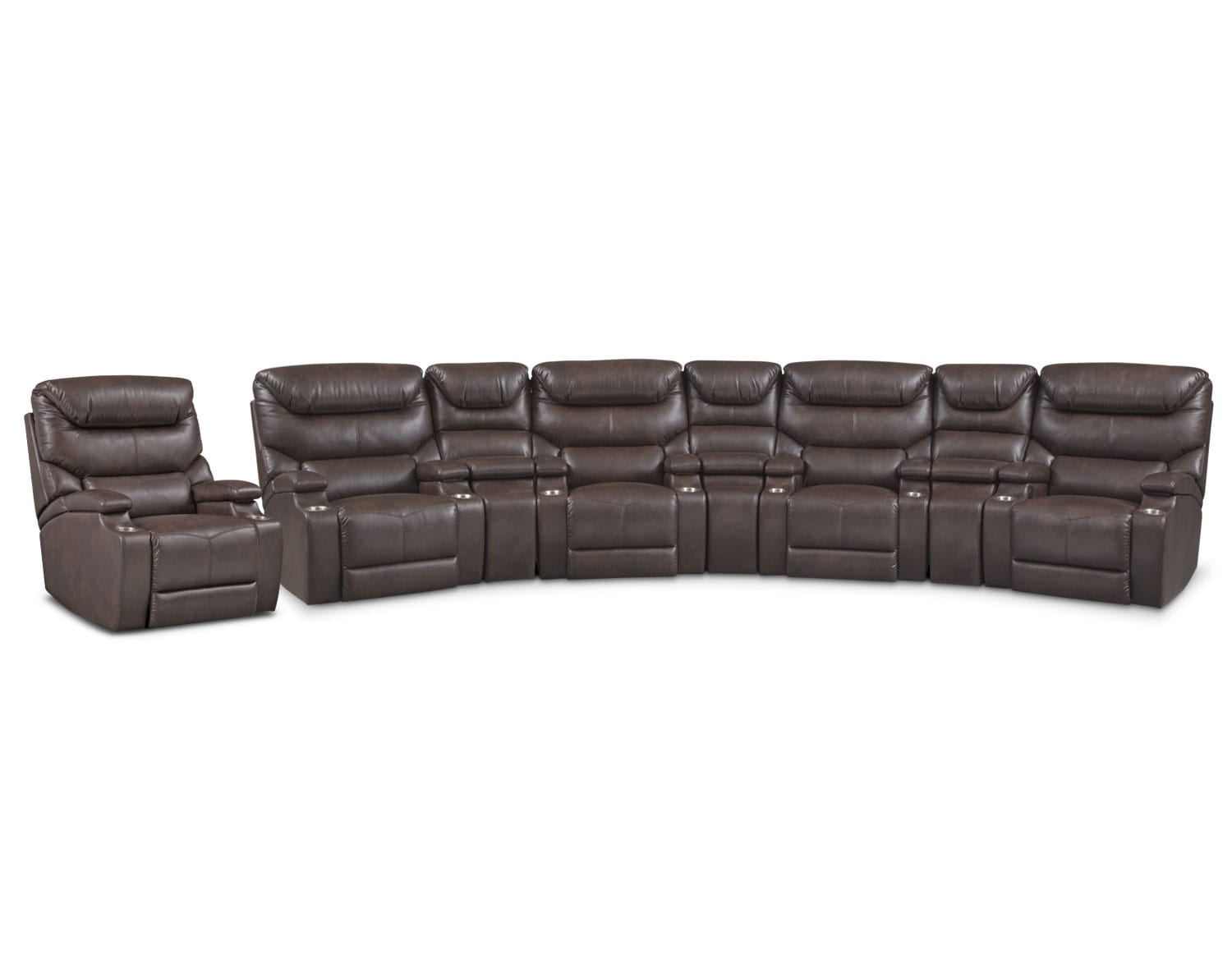 The Jupiter Sectional Collection - Brown