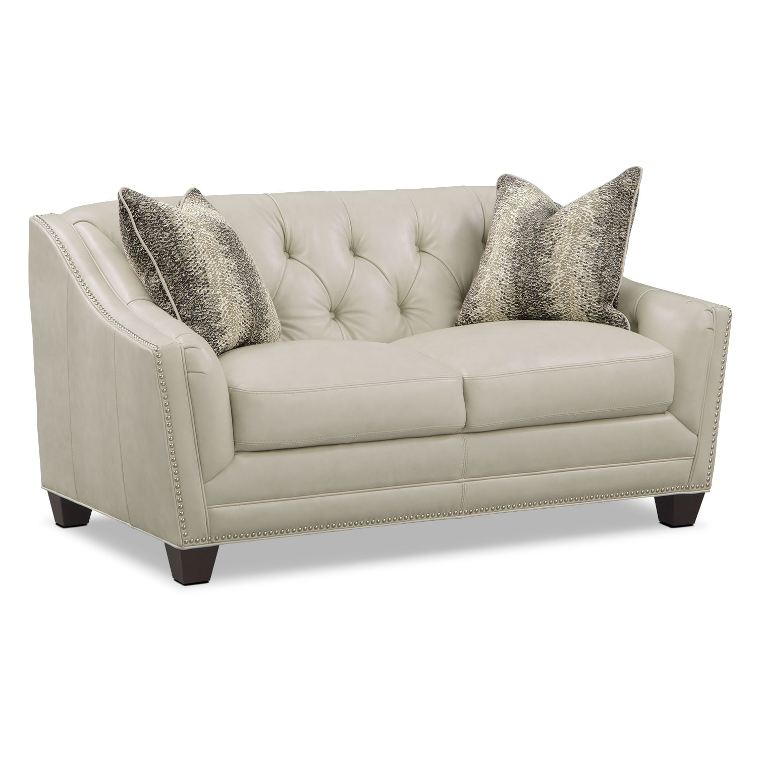 Living Room Furniture - Alexis Vanilla Loveseat