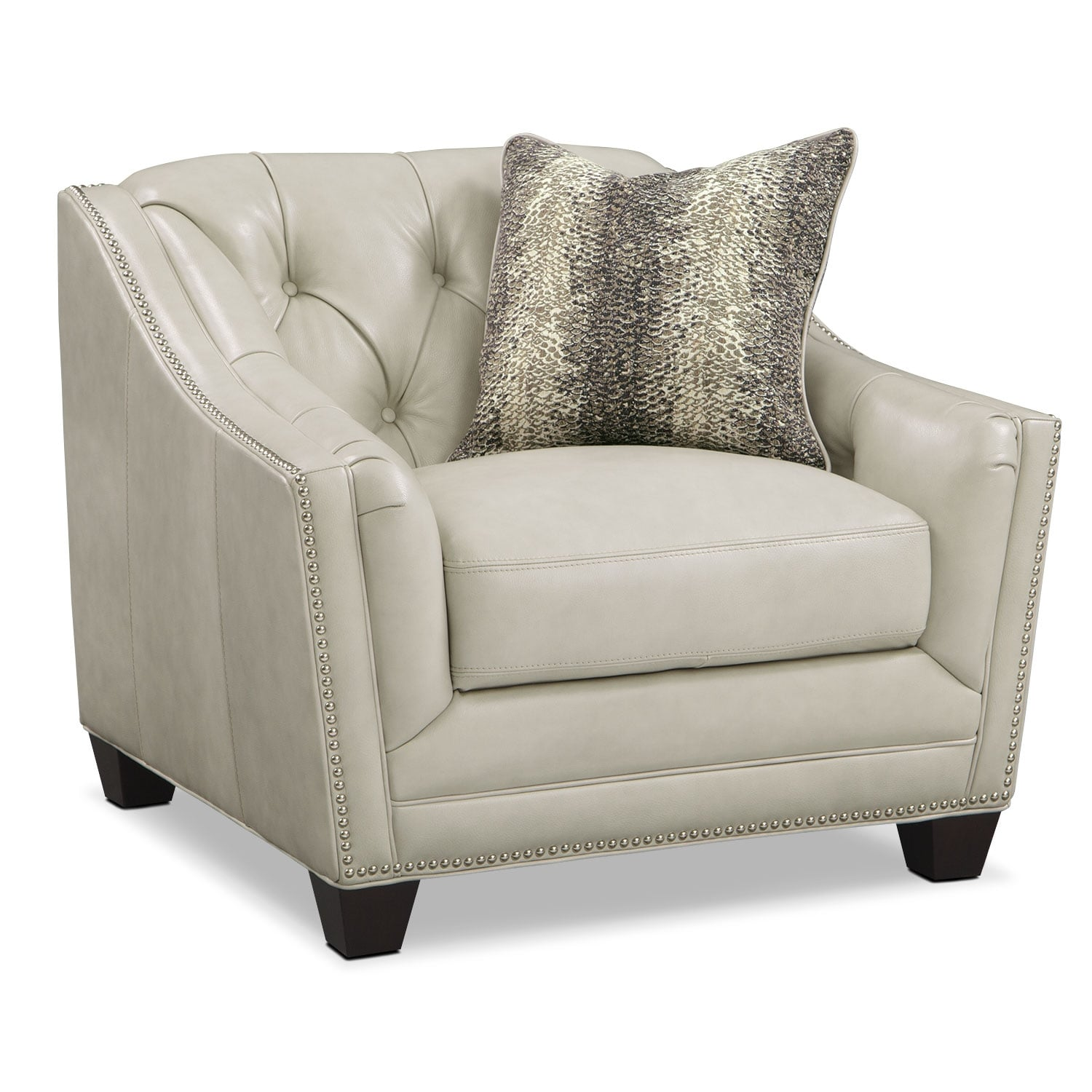 Living Room Furniture - Alexis Vanilla Chair