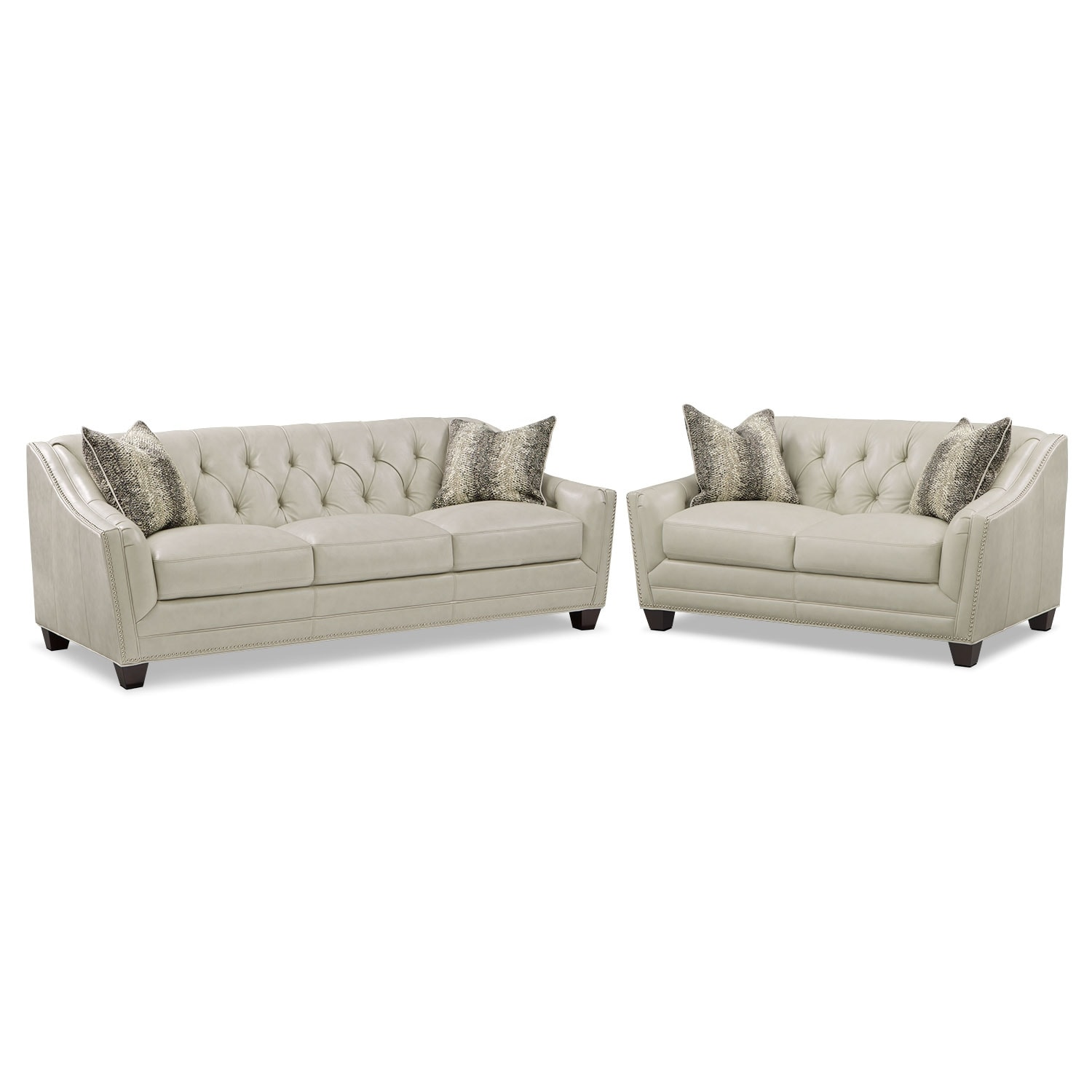 Living Room Furniture - Alexis Vanilla 2 Pc. Living Room