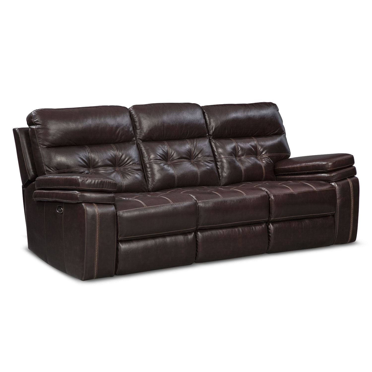 Living Room Furniture - Brisco Brown Power Reclining Sofa