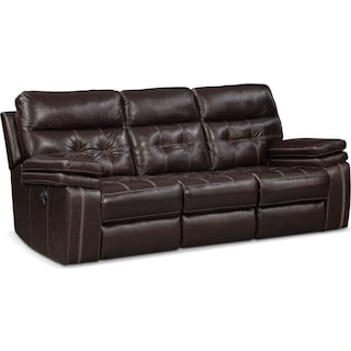 Brisco Manual Reclining Sofa Loveseat And Recliner Set Brown