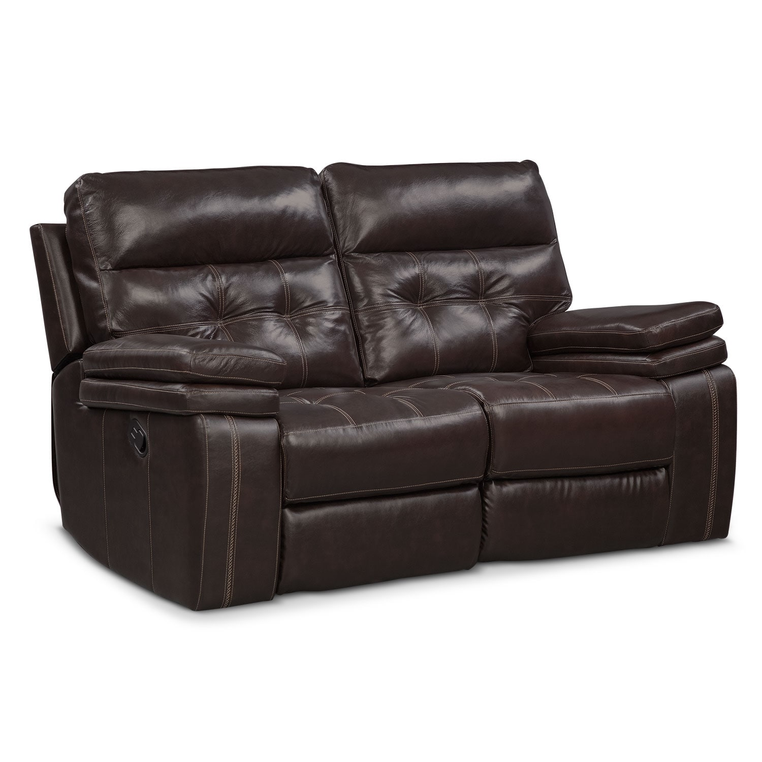 [Brisco Brown Manual Reclining Loveseat]