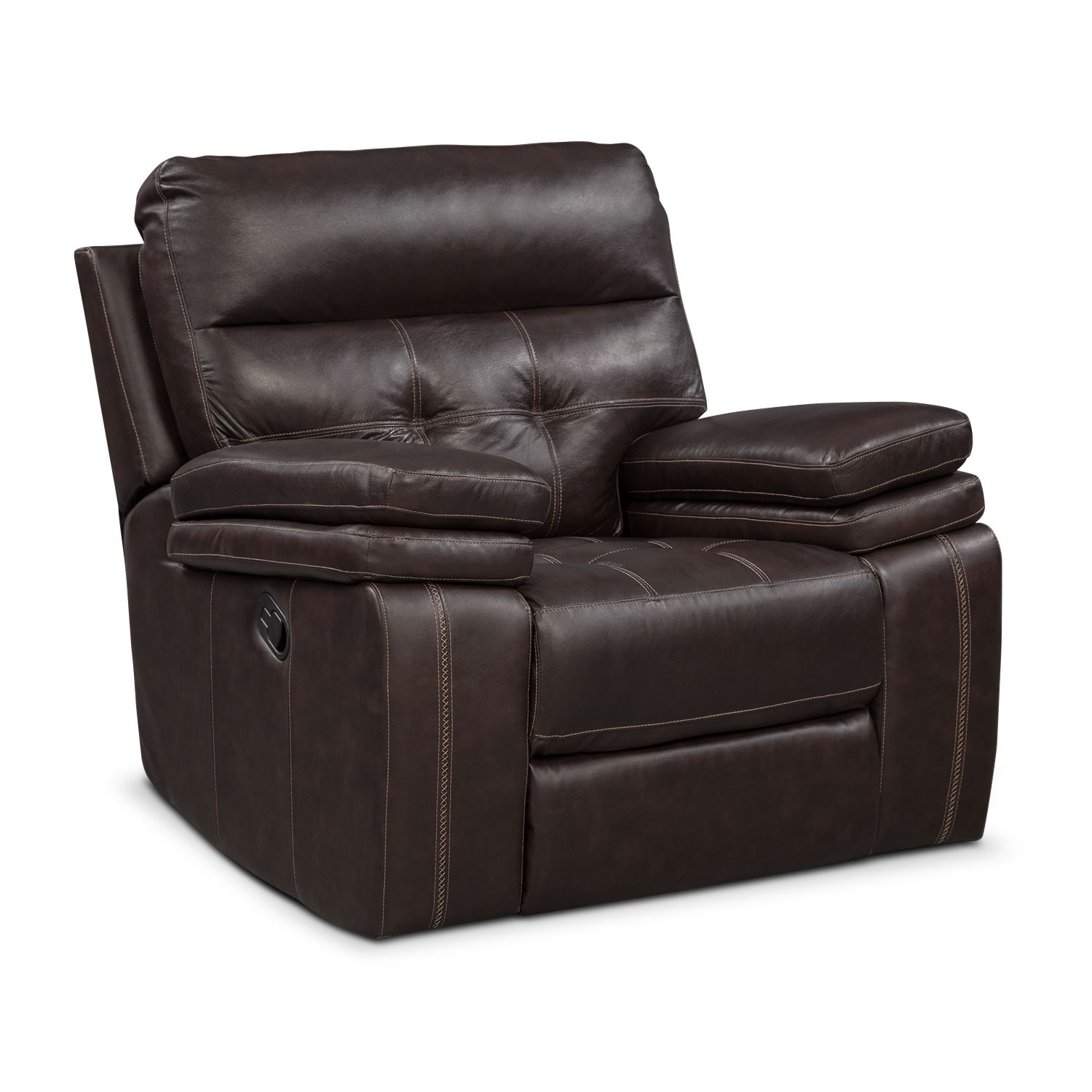Brisco Manual Recliner Brown Value City Furniture And