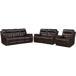The Brisco Manual Reclining Collection - Brown