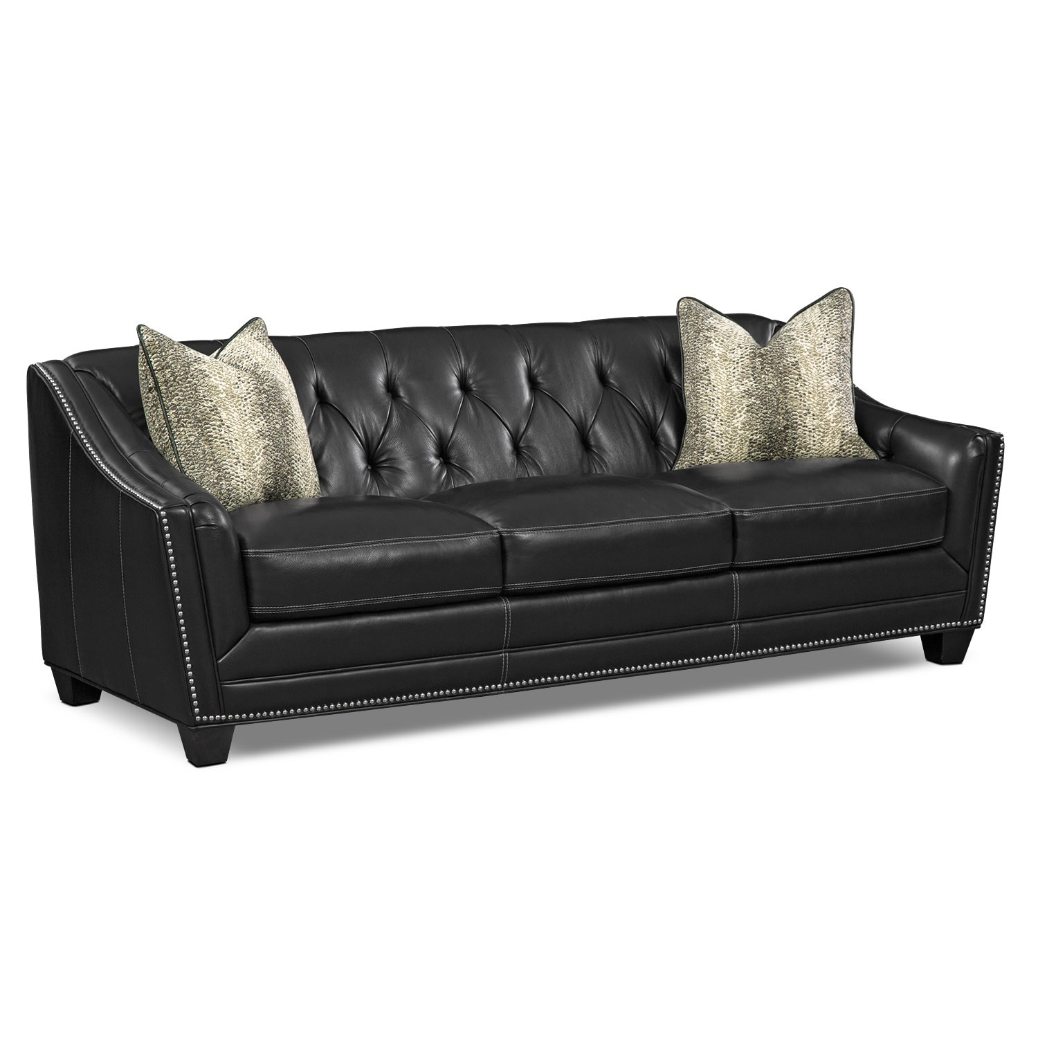 Living Room Furniture - Alexis Midnight Sofa