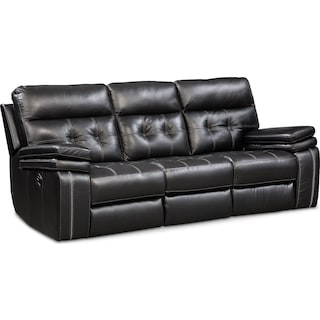 Brisco Manual Reclining Sofa - Black