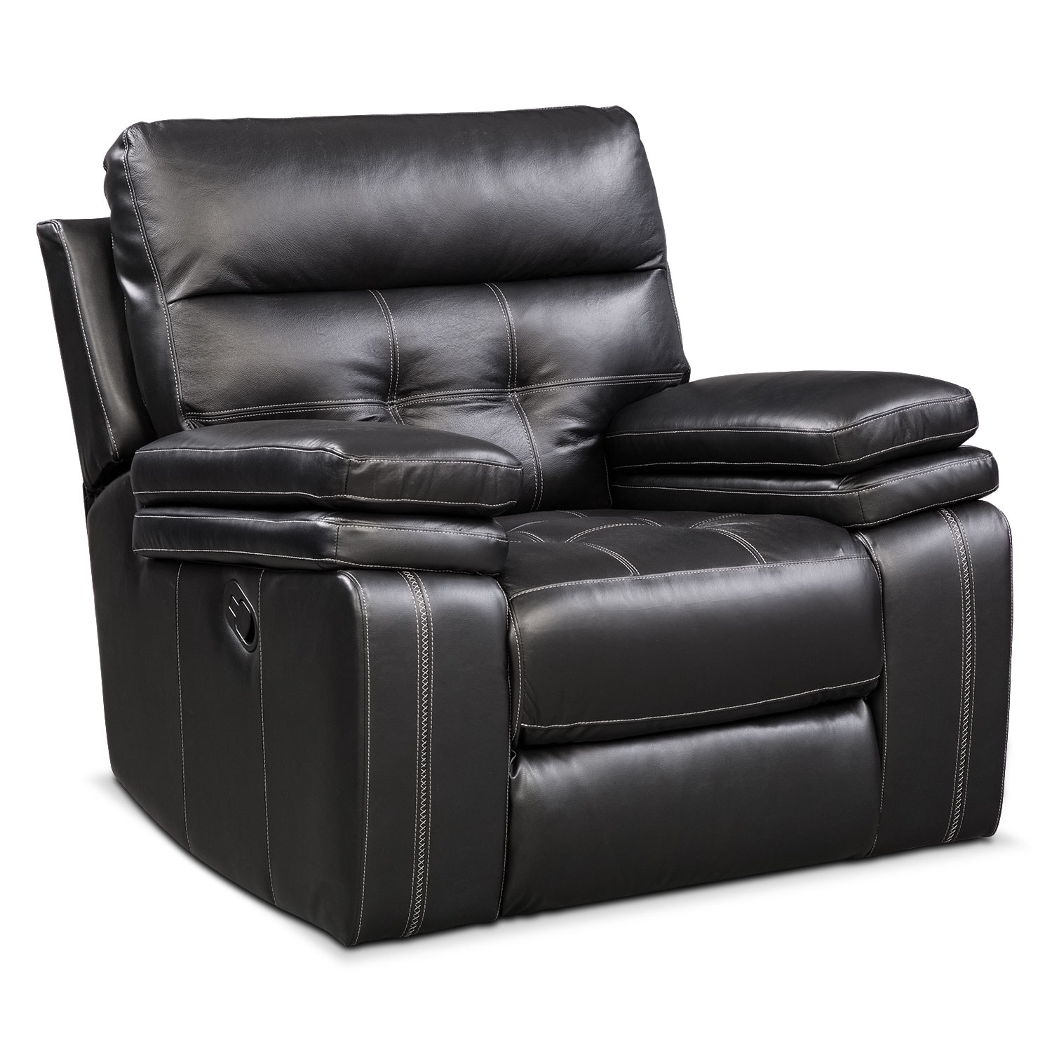 [Brisco Black Manual Recliner]