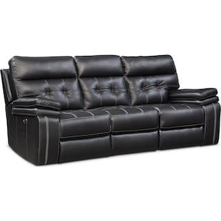 Brisco Power Reclining Sofa - Black