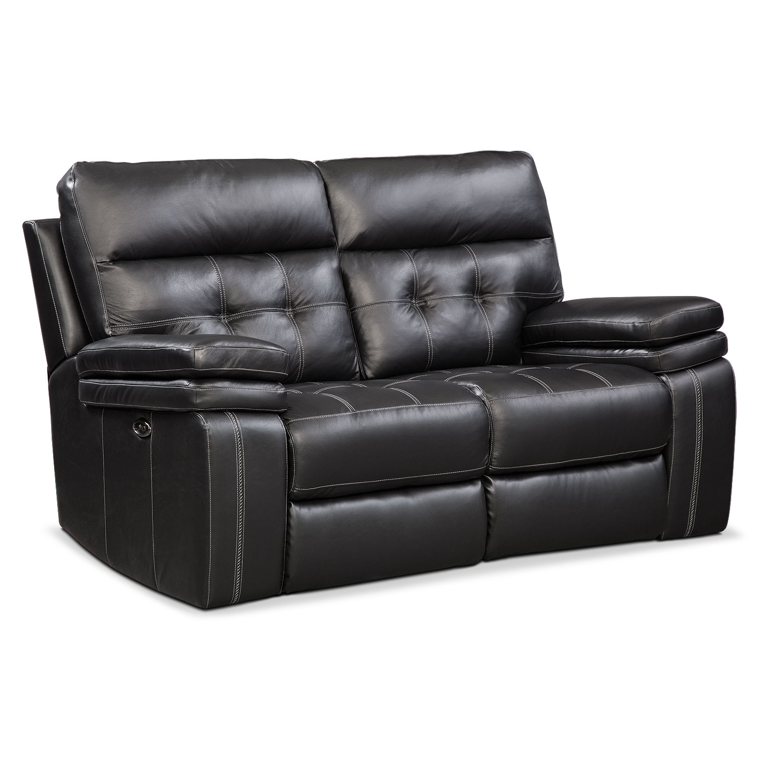 Brisco Power Reclining Loveseat   Black