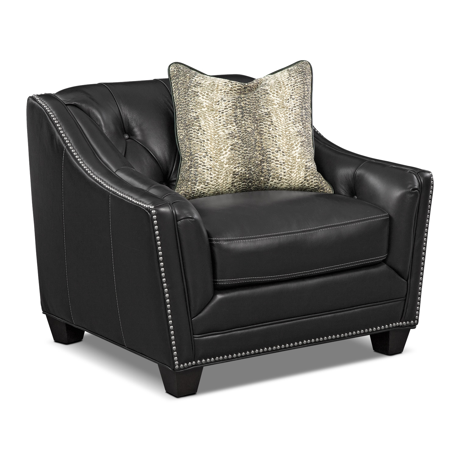 Living Room Furniture - Alexis Midnight Chair