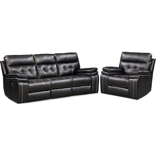 Brisco Manual Reclining Sofa and Recliner Set