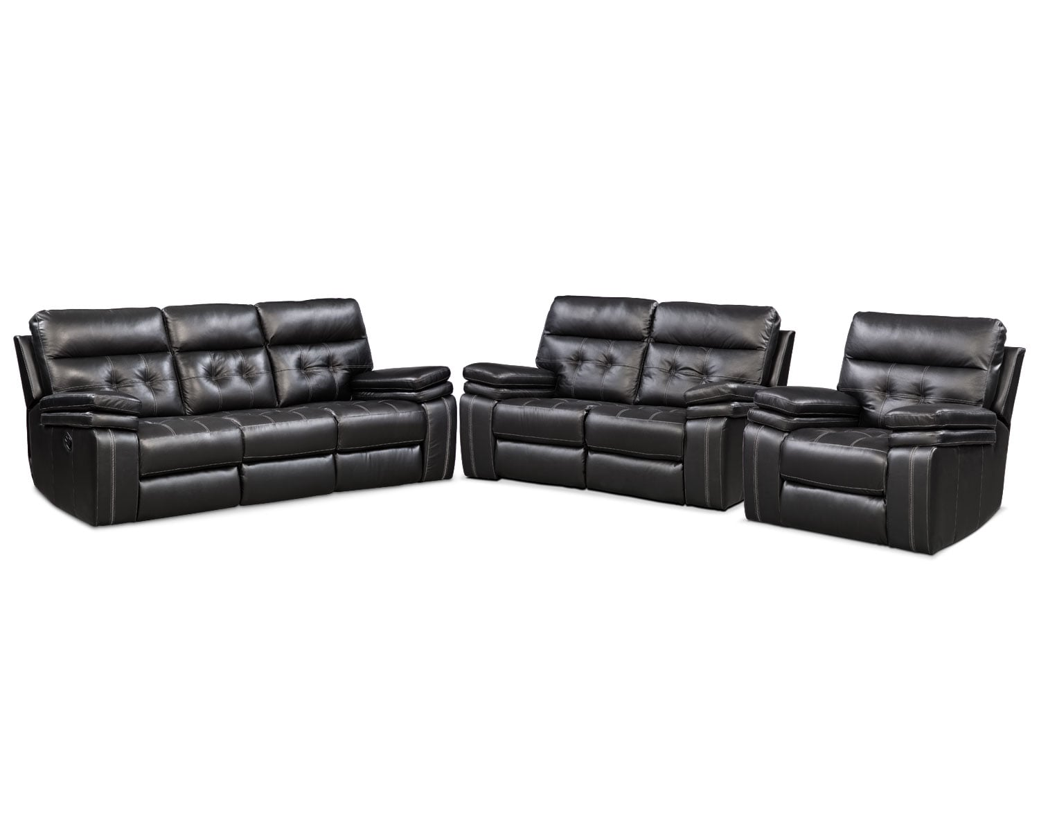 The Brisco Black Manual Reclining Collection