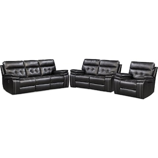 The Brisco Manual Reclining Collection - Black