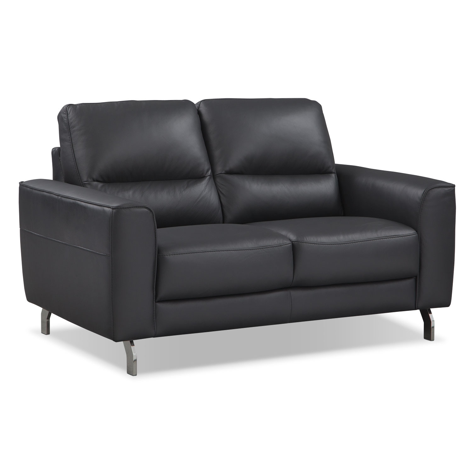 [Venice Black Loveseat]