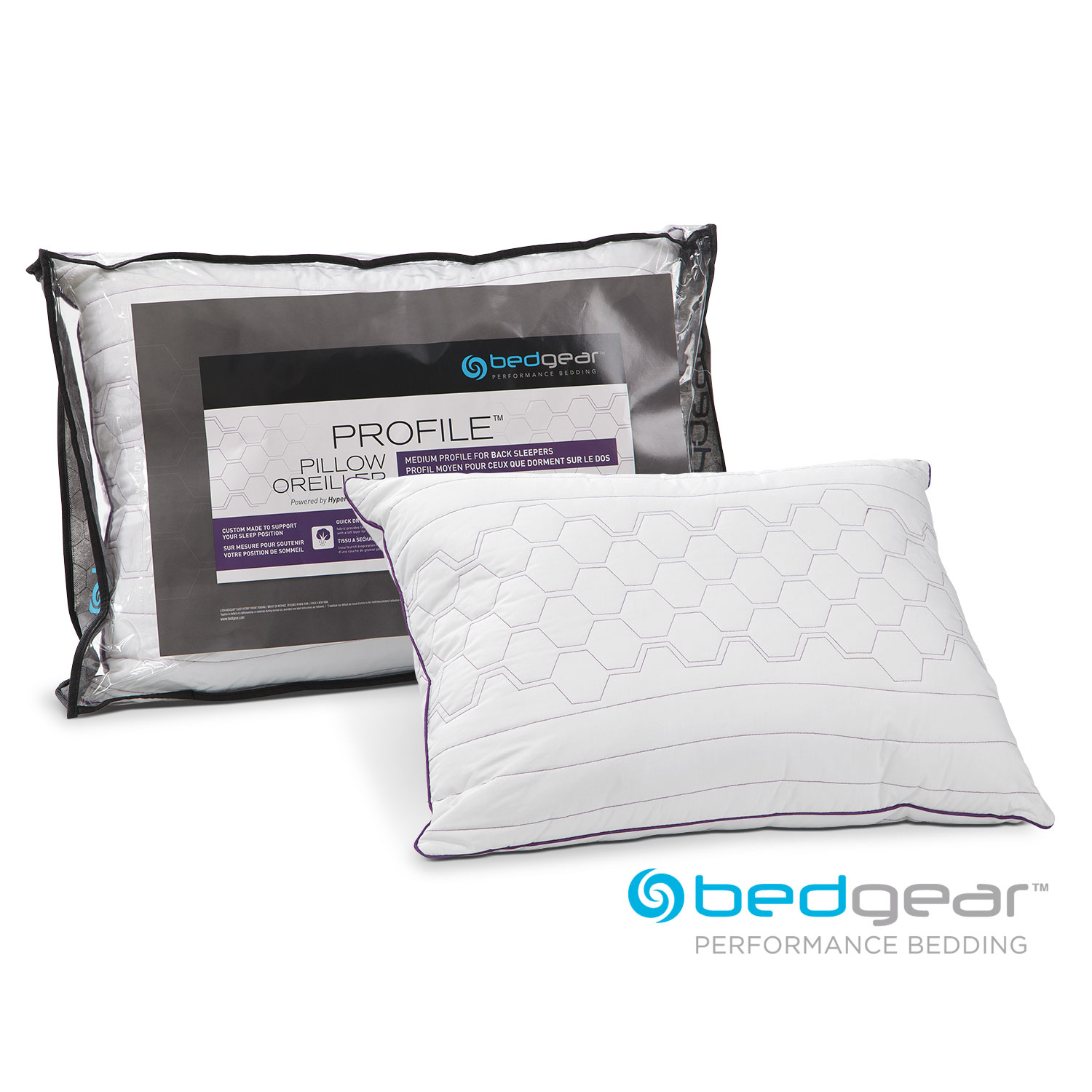 Mattresses and Bedding - Queen Profile Pillow for Back Sleepers
