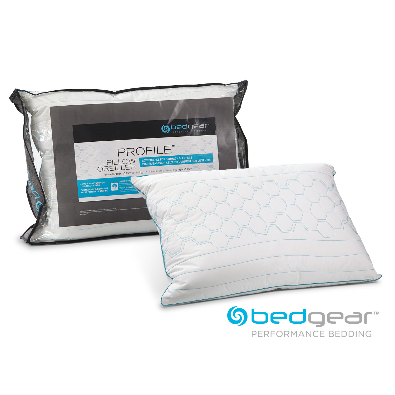 Queen Profile Pillow for Stomach Sleepers