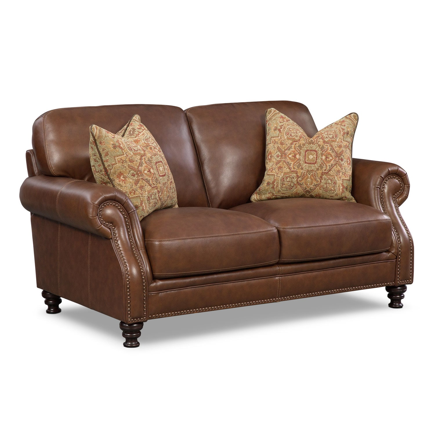 Living Room Furniture - Carrington Tobacco Loveseat