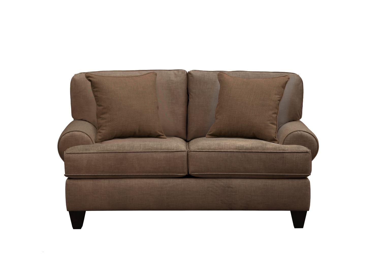 """Living Room Furniture - Bailey Roll Arm Sofa 67"""" Oakley III Java w/ Oakley III Java Pillow"""