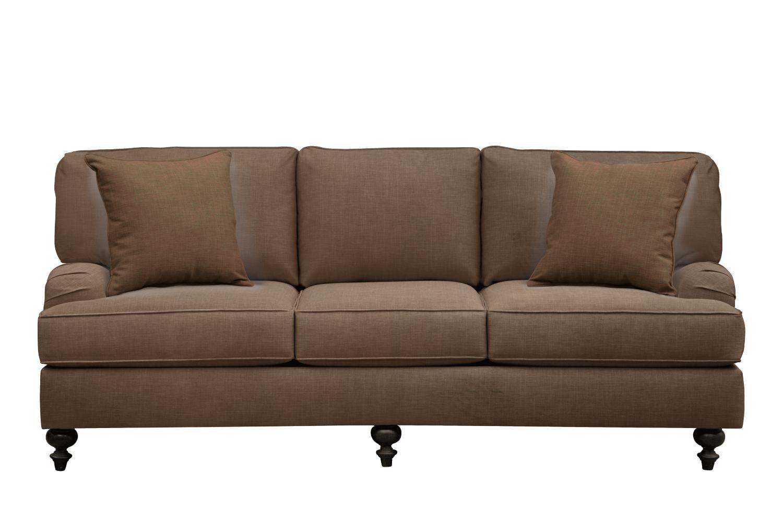 "Avery English Arm Sofa 86"" Oakley III Java w/ Oakley III Java Pillow"