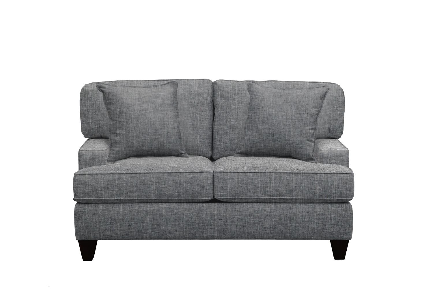 "Living Room Furniture - Conner Track Arm Sofa 63"" Milford II Charcoal w/ Milford II Charcoal  Pillow"