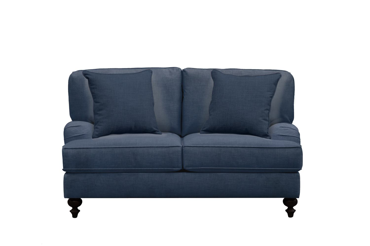 "Living Room Furniture - Avery English Arm Sofa 62"" Oakley III Ink w/ Oakley III Ink Pillow"