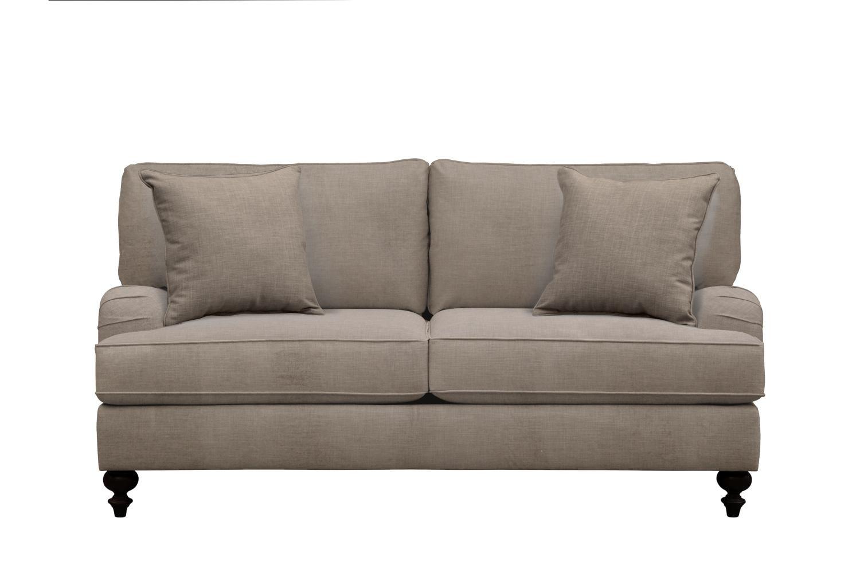 "Living Room Furniture - Avery English Arm Sofa 74"" Oakley III Granite w/ Oakley III Granite Pillow"