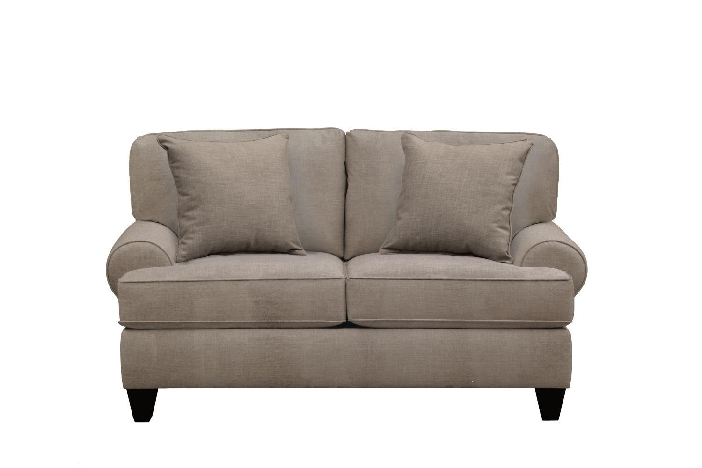 "Living Room Furniture - Bailey Roll Arm Sofa 67"" Oakley III Granite w/ Oakley III Granite Pillow"