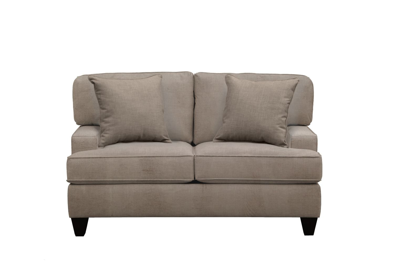"Living Room Furniture - Conner Track Arm Sofa 63"" Oakley III Granite w/ Oakley III Granite Pillow"