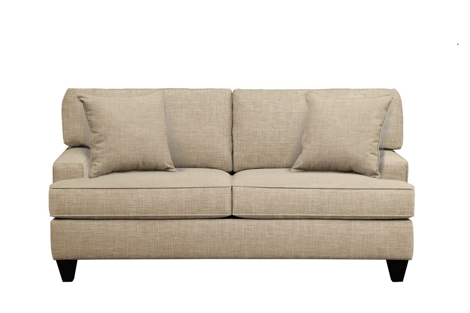 "Living Room Furniture - Conner Track Arm Sofa 75"" Milford II Toast w/ Milford II Toast  Pillow"