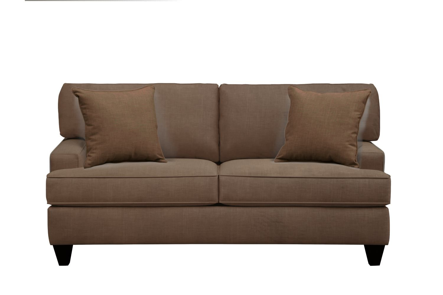 "Living Room Furniture - Conner Track Arm Sofa 75"" Oakley III Java w/ Oakley III Java Pillow"