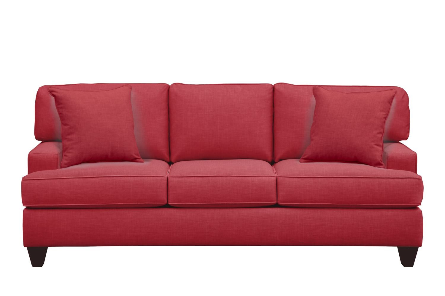 "Living Room Furniture - Conner Track Arm Sofa 87"" Oakley III Tomato w/ Oakley III Tomato Pillow"
