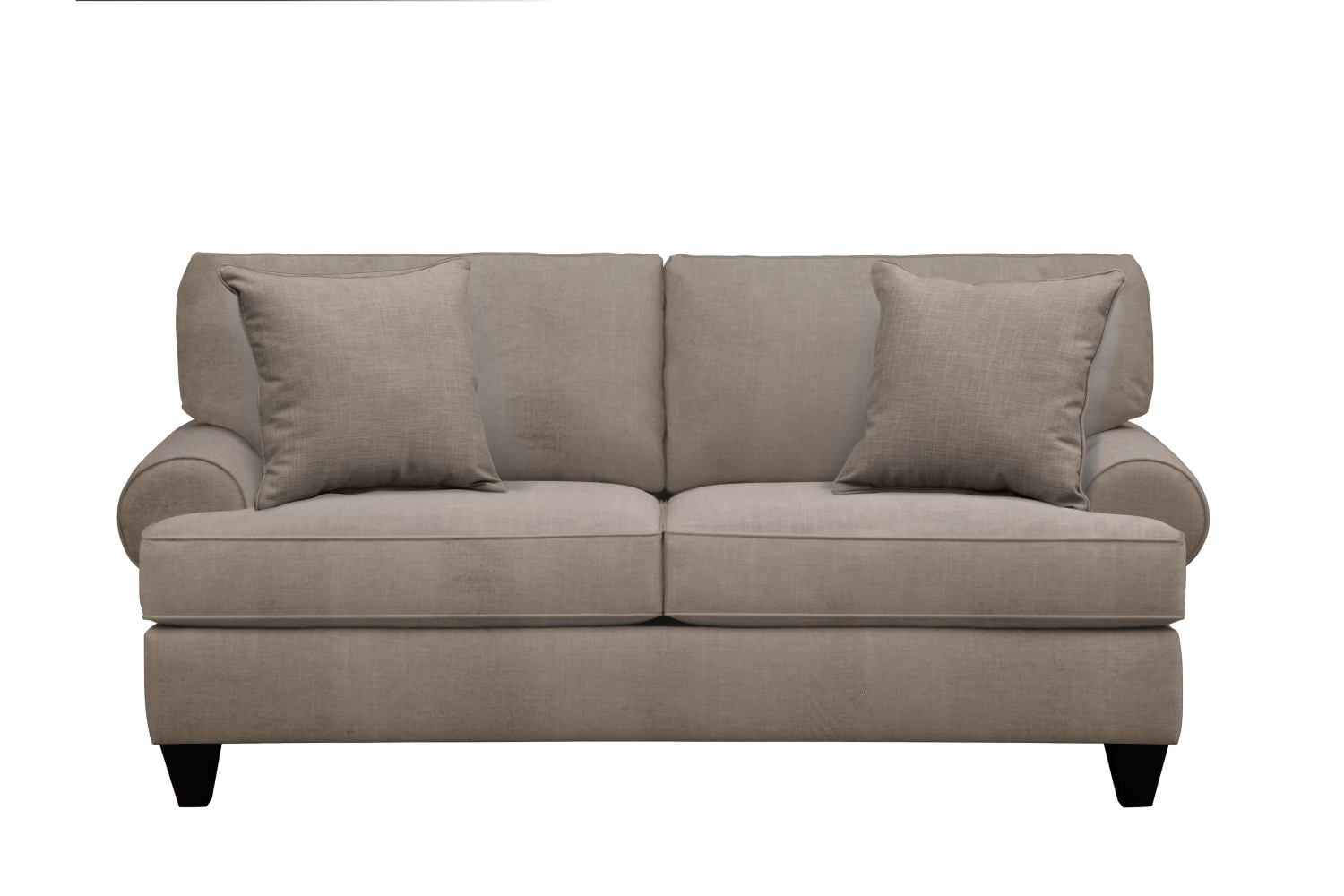 "Living Room Furniture - Bailey Roll Arm Sofa 79"" Oakley III Granite w/ Oakley III Granite Pillow"