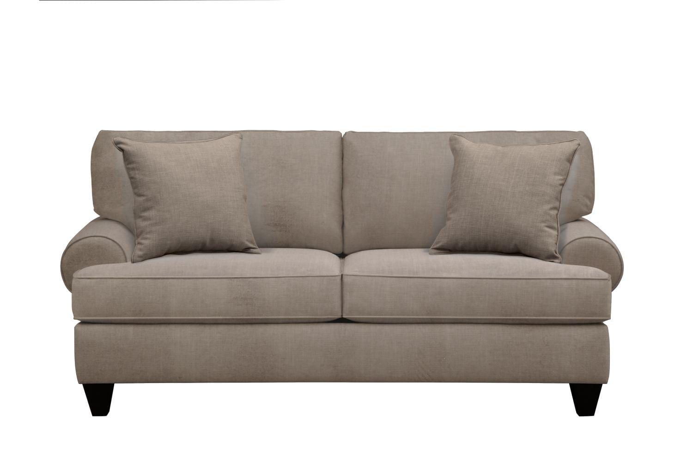 "Living Room Furniture - Bailey Roll Arm Sofa 79"" Oakley III Granite w/ Oakley III Granite Pillow"