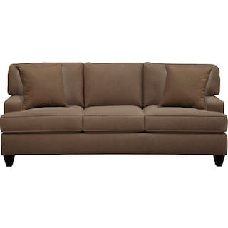 "Conner Track Arm Sofa 87"" Oakley III Java w/ Oakley III Java Pillow"