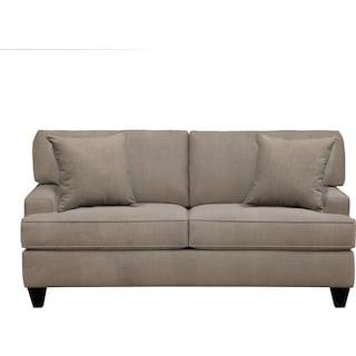 "Conner Track Arm Sofa 75"" Oakley III Granite w/ Oakley III Granite Pillow"