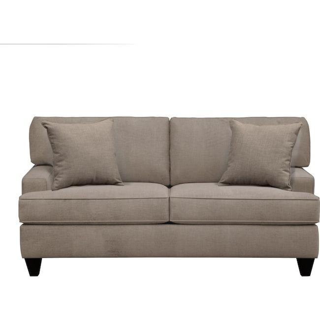 "Living Room Furniture - Conner Track Arm Sofa 75"" Oakley III Granite w/ Oakley III Granite Pillow"