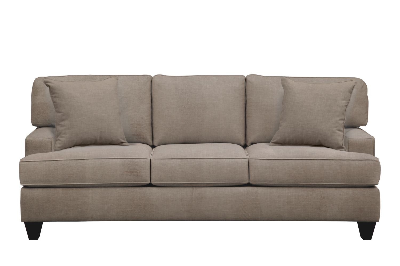 "Living Room Furniture - Conner Track Arm Sofa 87"" Oakley III Granite w/ Oakley III Granite Pillow"