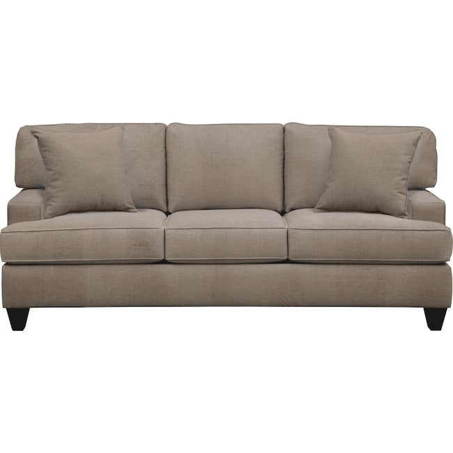 "Living Room Furniture - Conner Track Arm Sofa 87"" Oakley III Granite w/ Oakley III Granite Pillow"